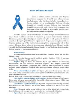 kalın bağırsak kanseri - Tekirdağ Halk Sağlığı Müdürlüğü