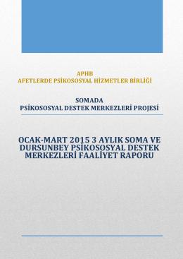 ocak-mart 2015 3 aylık soma ve dursunbey psikososyal destek