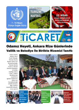 Odamız Heyeti, Ankara Rize Günlerinde TURİZM