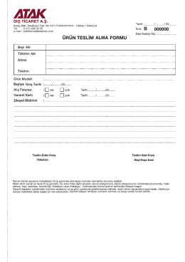 B_ATAK_ürün teslim alma formu
