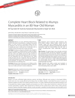 Complete Heart Block Related to Mumps Myocarditis in an 80