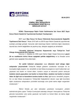 08.04.2015 ertürk yeminli mali müşavirlik ve bağımsız