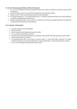Ev/İşyeri İlaçlamasında Dikkat Edilecek Hususlar