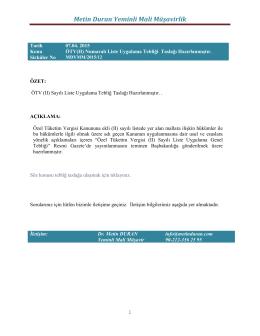 Sirküler No MDYMM/2015/12