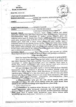 Isparta 2014/1143 - Aktif Eğitim-Sen