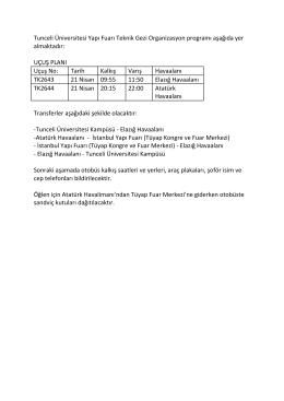 Ekli Dosyayı İndir - Tunceli Üniversitesi