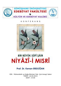 konferans - Gümüşhane Üniversitesi Edebiyat Fakültesi