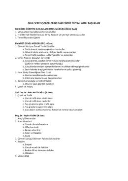 eğitim konu başlıkları - Özel Öğretim Kurumları Genel Müdürlüğü