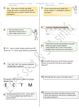 Matematik Sınavımız