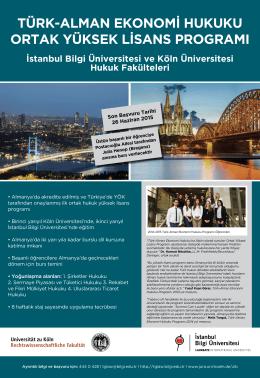 tglaw-Program-Afisi - Türk-Alman Ekonomi Hukuku Ortak Yüksek