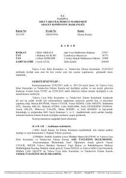 T.C. YALOVA ADLİ YARGI İLK DERECE MAHKEMESİ ADALET