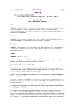 16.04.2015 tarih ve 29328 sayılı resmi gazetede yayınlanan çiğ