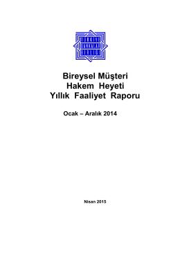 31 Aralık 2014 - Türkiye Bankalar Birliği