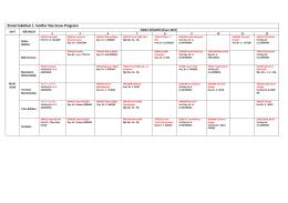 Ziraat Fakültesi 1. Sınıflar Vize Sınav Programı