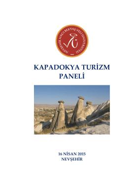 kapadokya turizm paneli - Nevşehir Hacı Bektaş Veli Üniversitesi