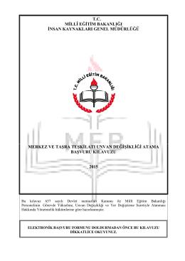 tc millî eğitim bakanlığı insan kaynakları genel müdürlüğü merkez ve