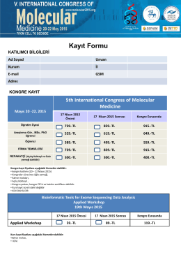 Slayt 1 - V.International Congress of Molecular Medicine