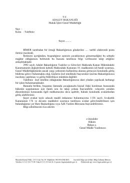 Özel Nitelik(Velayet) - Hukuk İşleri Genel Müdürlüğü