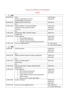 HSE-biz, 2015 BİLİMSEL YAYIN HAZIRLAMA Program 1. GÜN