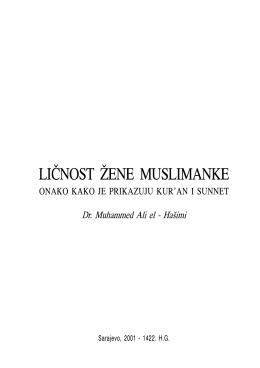 Ličnost žene muslimanke