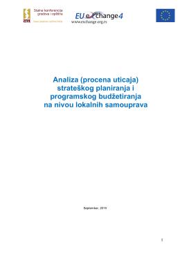 Analiza (procena uticaja) strateškog planiranja i
