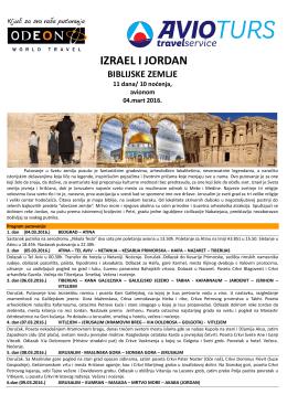 Putovanje Izrael i Jordan