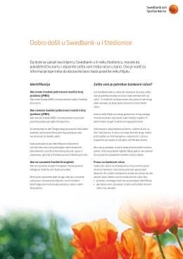 Dobro došli u Swedbank