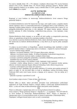 druga gimnazija sarajevo _konkurs_direktor(ica)