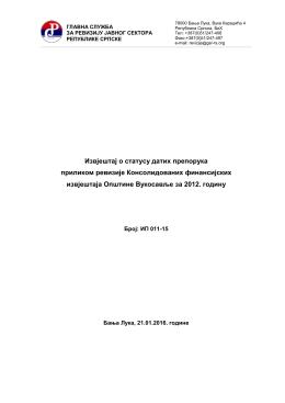 Општина Вукосавље - Главна служба за ревизију јавног сектора