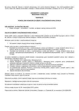 """(""""Sl. novine Kantona Sarajevo"""", broj: 42/13"""