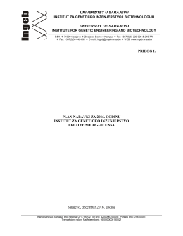 plan nabavki instituta za 2016. godinu