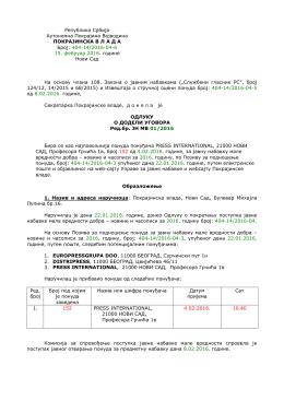 Република Србија Аутономна Покрајина Војводина
