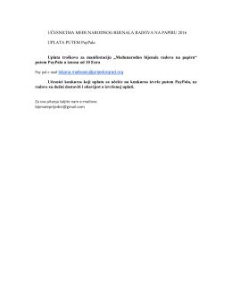 instrukcije za plaćanje PayPal