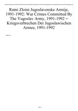 Ratni Zloini Jugoslavenske Armije, 1991