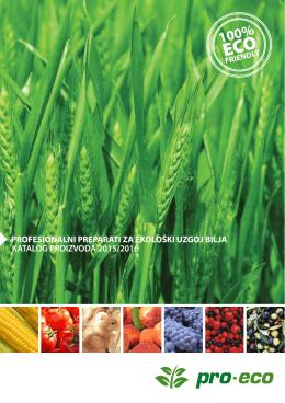 profesionalni preparati za ekološki uzgoj bilja katalog - Pro-eco