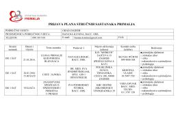 prijava plana stručnih sastanaka primalja