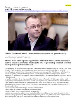 2016.g., Ljubić Marko Zuroffi, Goldsteini, Pusići i - safaric