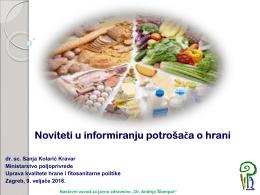 "Predavanje ""Noviteti u informiranju potrošača u hrani"""