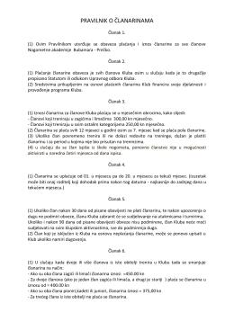 pravilnik o članarinama - Nogometna Akademija Prečko