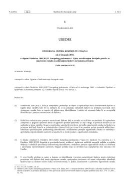 DELEGIRANA UREDBA KOMISIJE (EU) 2016/ 161