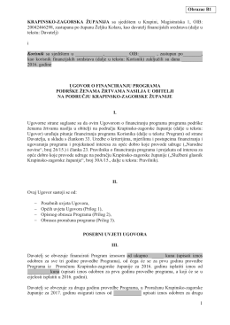 Ogledni obrazac ugovora - Krapinsko