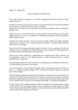 Izjava ministra Lovre Kuščevića
