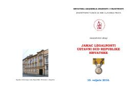JAMAC LEGALNOSTI USTAVNI SUD REPUBLIKE HRVATSKE