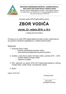 Opširnije... - HPD Zagreb
