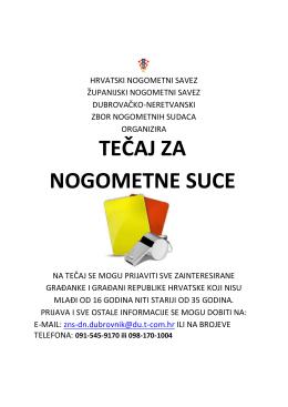 Tečaj za suce - Županijski nogometni savez Dubrovačko