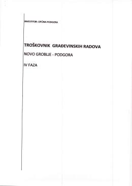 Troskovnik