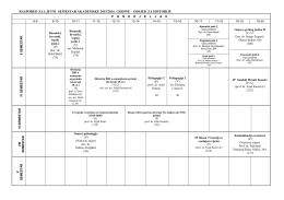 Raspored nastave za ljetni semestar