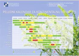 peludni kalendar za kontinentalnu hrvatsku