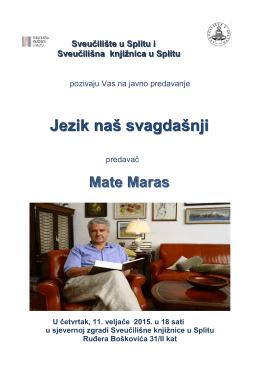 Jezik naš svagdašnji - Sveučilište u Splitu