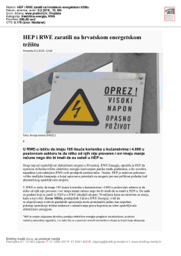 RWE i HEP zaratili ()
